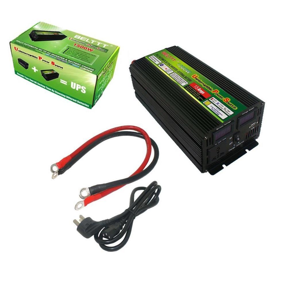 Инвертор с зарядным устройством 12V-220V 1500W BELTTT