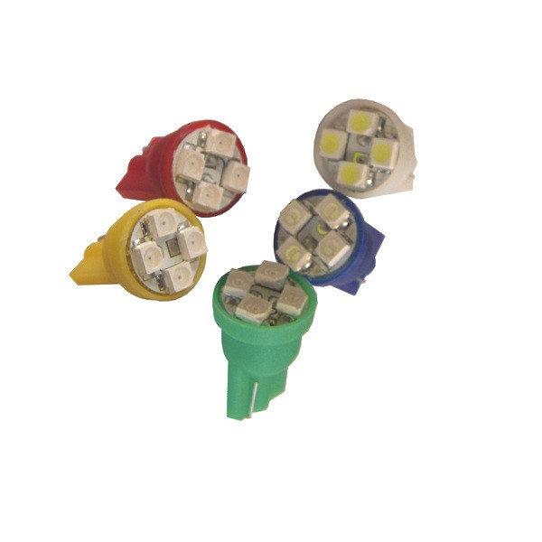 Лампа светодиодная W5W 12V 4SMD крас