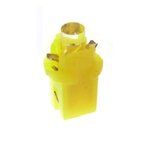Лампа светодиодная W1.2W / BX8.3d 12V 1LED для русских желтая