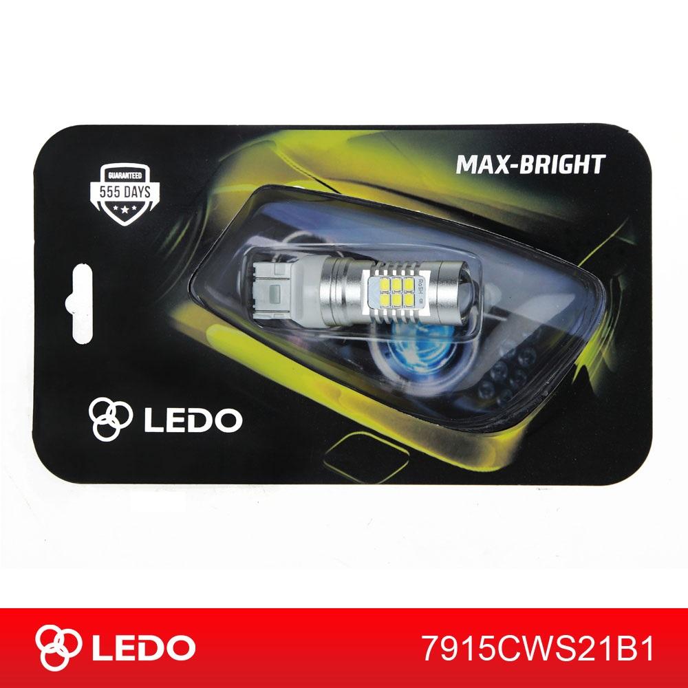 Лампа светодиодная W21/5W LEDO Max-Bright 21SMD линза 12V белая