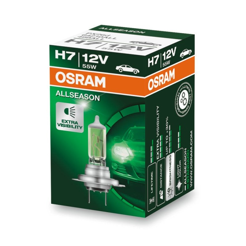 Автолампа H7 (55) PX26d ALLSEASON 3000K 12V OSRAM