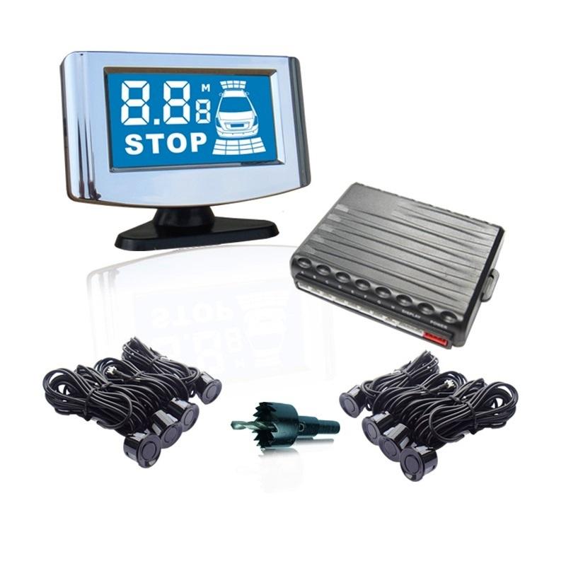 Парктроник PS-528U (8 датчика+коннекторы, цветной LCD-Дисплей)