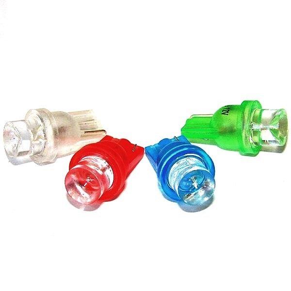 Лампа светодиодная W5W 12V 1LED конус желт