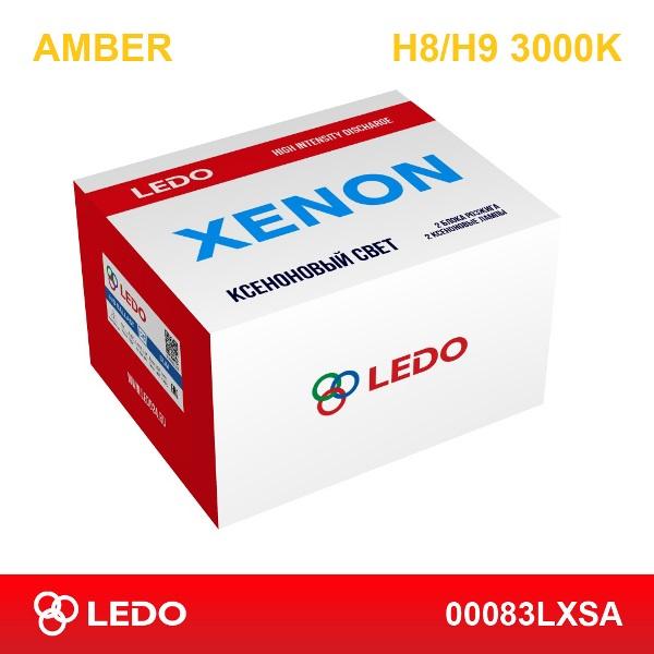 Комплект ксенона H8/H9 3000K LEDO Amber