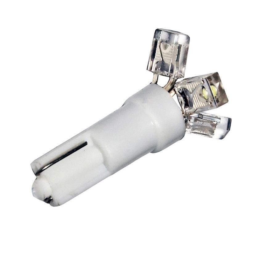 Лампа светодиодная W1.2W / T5 / W2.0x4.6d 12V 3LED красная