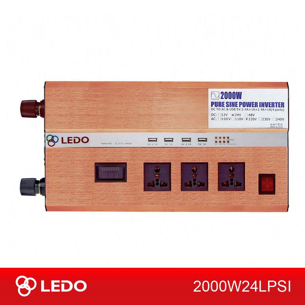Инвертор 24V-220V 2000W LEDO чистый синус