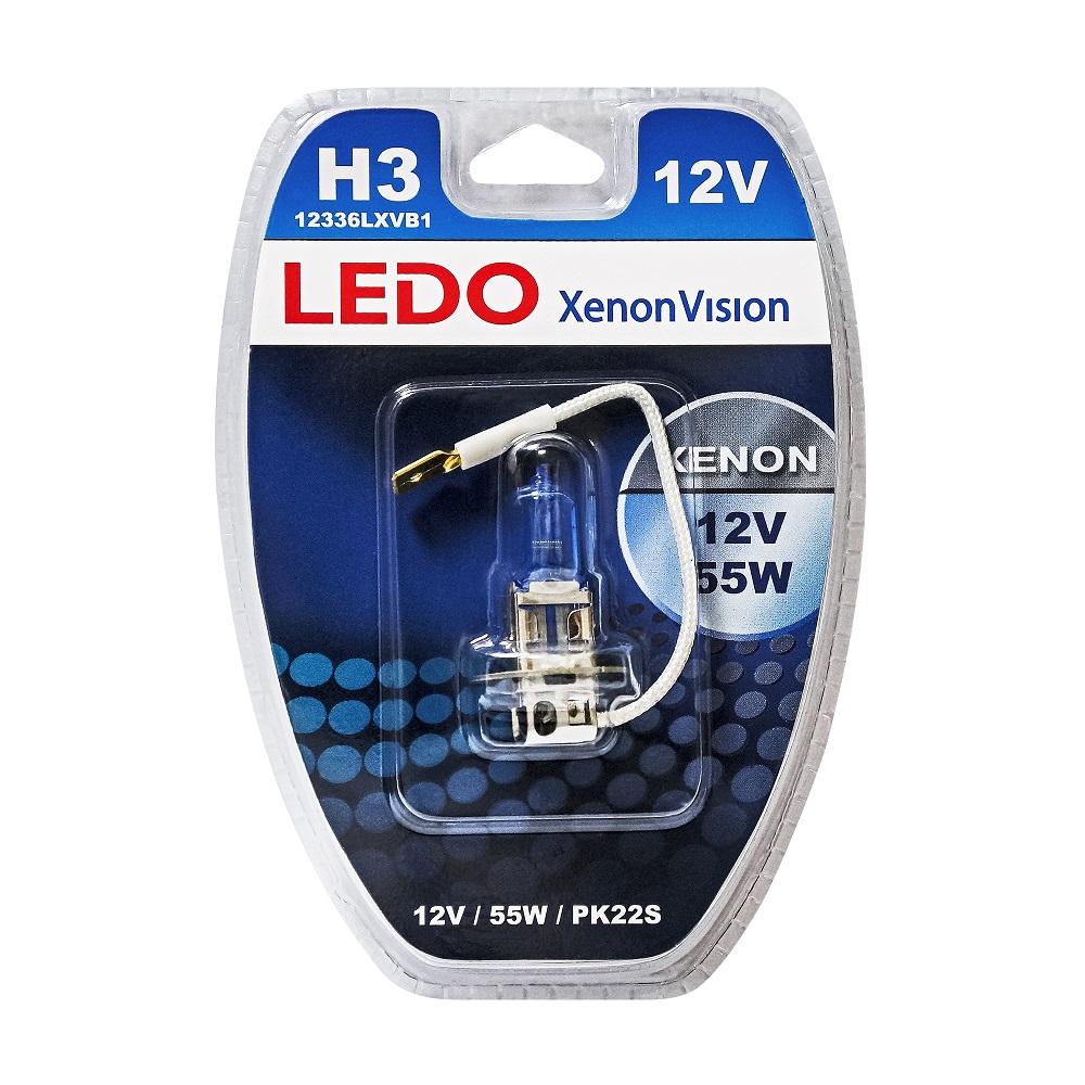 Лампа H3 LEDO XenonVision 12V 55W блистер