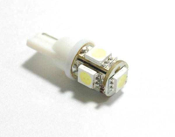 Лампа светодиодная W5W 12V 5SMD 60Lm бел