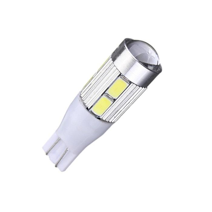 Лампа светодиодная W16W / T15 / 12V 10SMD линза с обманкой