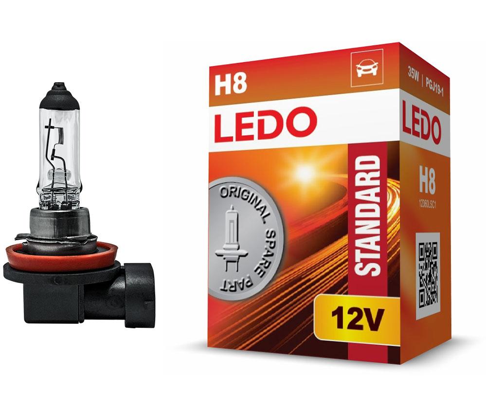 Лампа H8 LEDO Standard 12V 35W