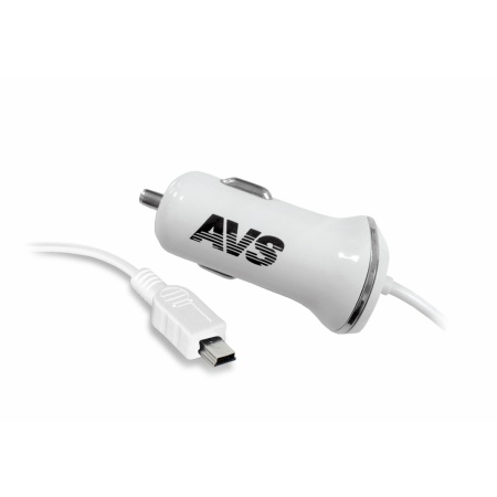 Автомобильное зарядное устройство AVS с mini USB CMN-213 (1,2А)