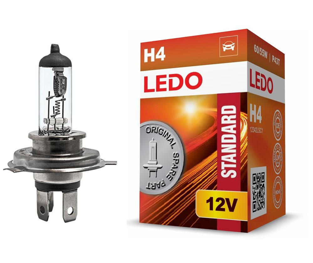 Лампа H4 LEDO Standard 12V 60/55W