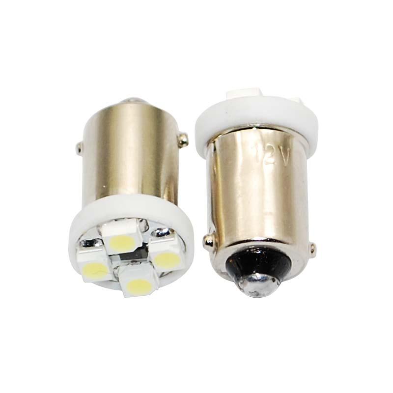 Лампа светодиодная T4W / BA9S / 12V 4SMD  белая