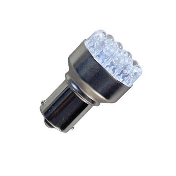 Лампа светодиодная P21W / BA15S 12V 12LED бел
