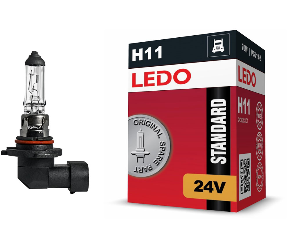 Лампа H11 LEDO Standard 24V 70W