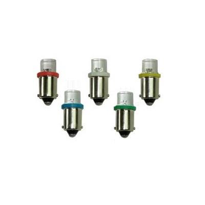 Лампа светодиодная T4W / BA9S / 12V 1LED конус крас