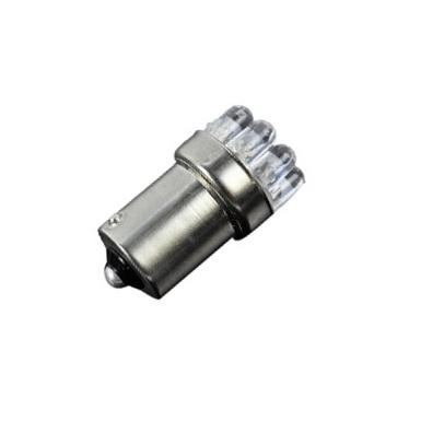 Лампа светодиодная P21W / BA15S / 12V 9LED крас