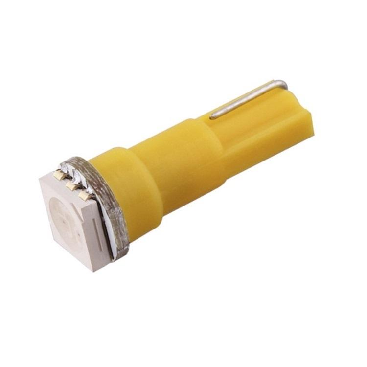 Лампа светодиодная W1.2W / T5 / W2.0x4.6d 12V 1SMD желтая