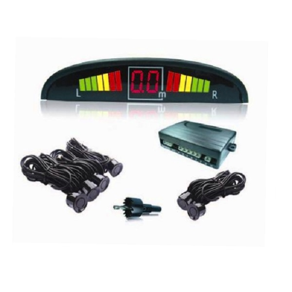 Парктроник PS-126U (6 датчиков+коннекторы, цветной светодиодный дисплей с цифровым табло)