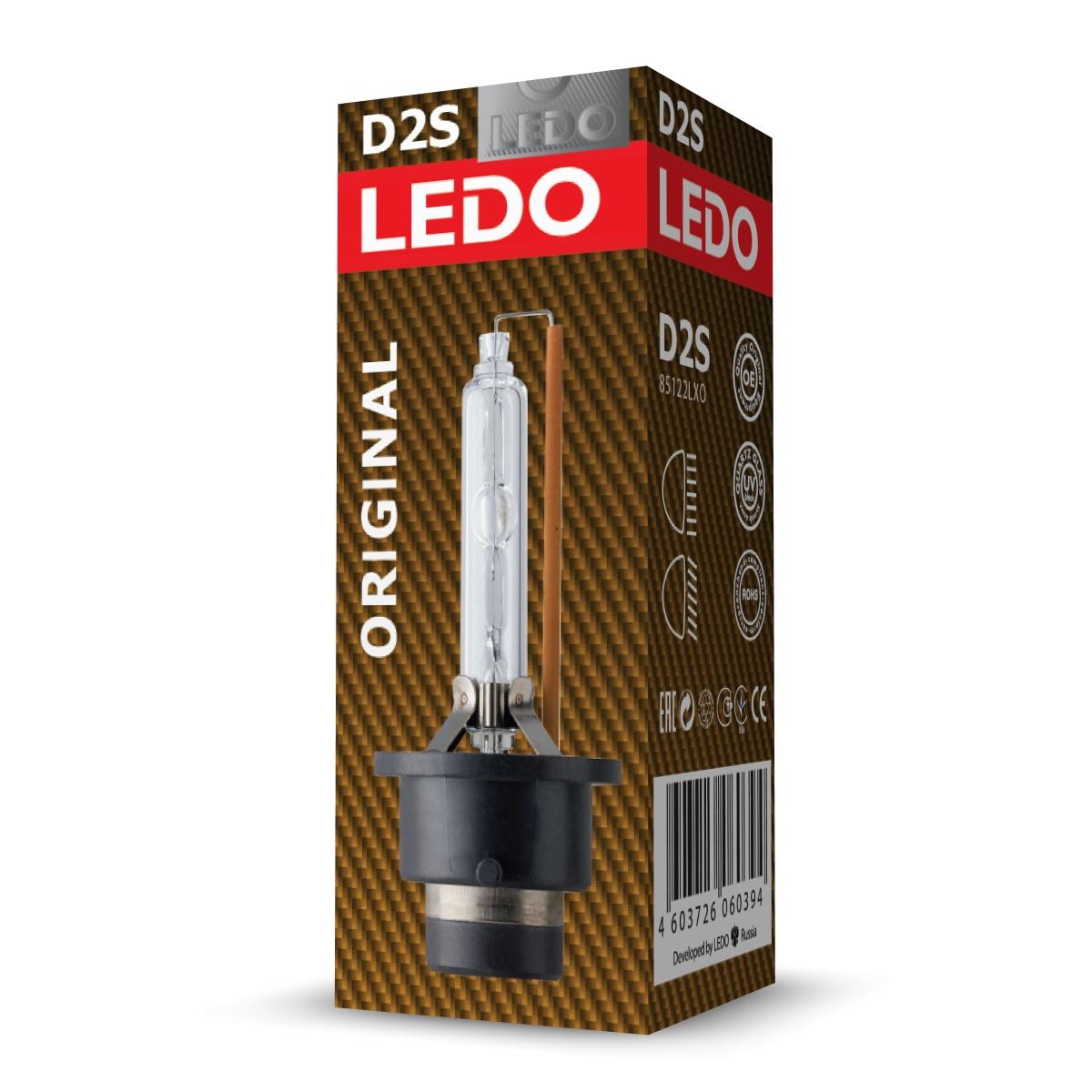 Лампа D2S 4300К LEDO Original