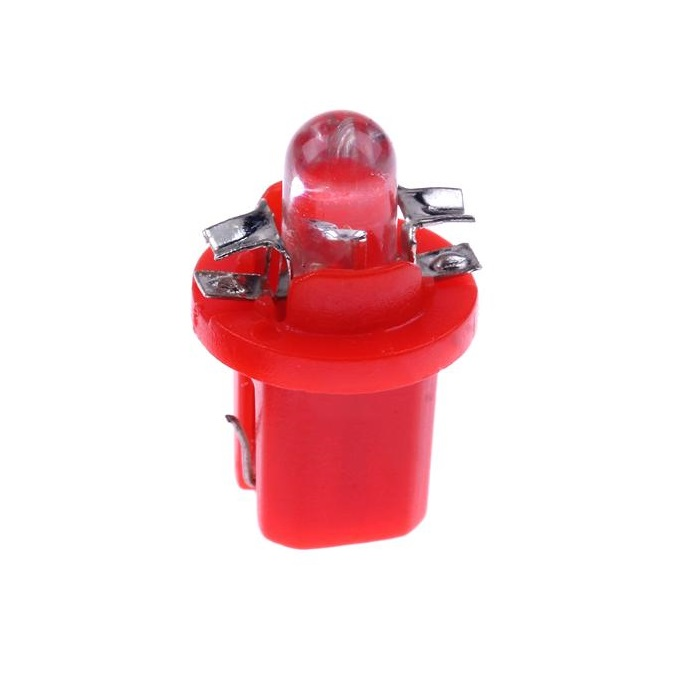 Лампа светодиодная W1.2W / BX8.5d 12V 1LED для иномарок красная