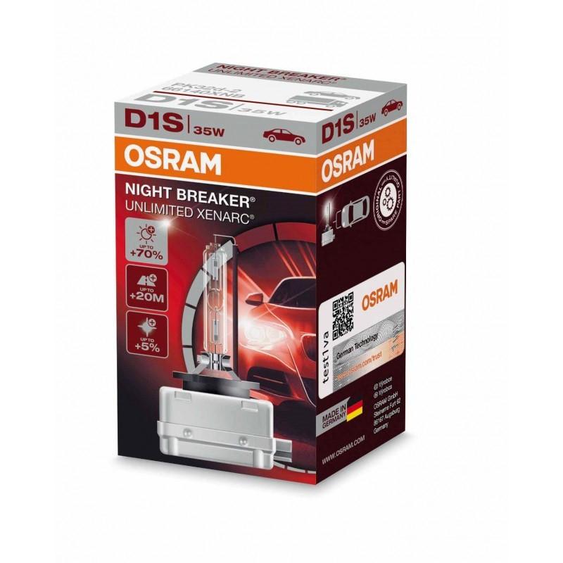 Автолампа D1S (35) PK32d-2+70% XENON NIGHT BREAKER UNLIMITED 4350K 85V OSRAM