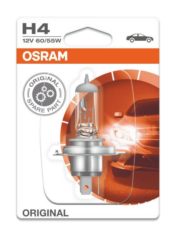 Автолампа H4 (60/55) P43t-38 (блистер) 12V OSRAM