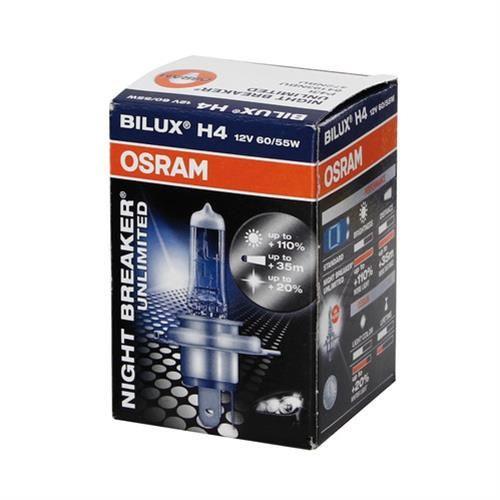 Автолампа H4 (60/55) P43t-38+110% NIGHT BREAKER UNLIMITED (блистер) 12V OSRAM