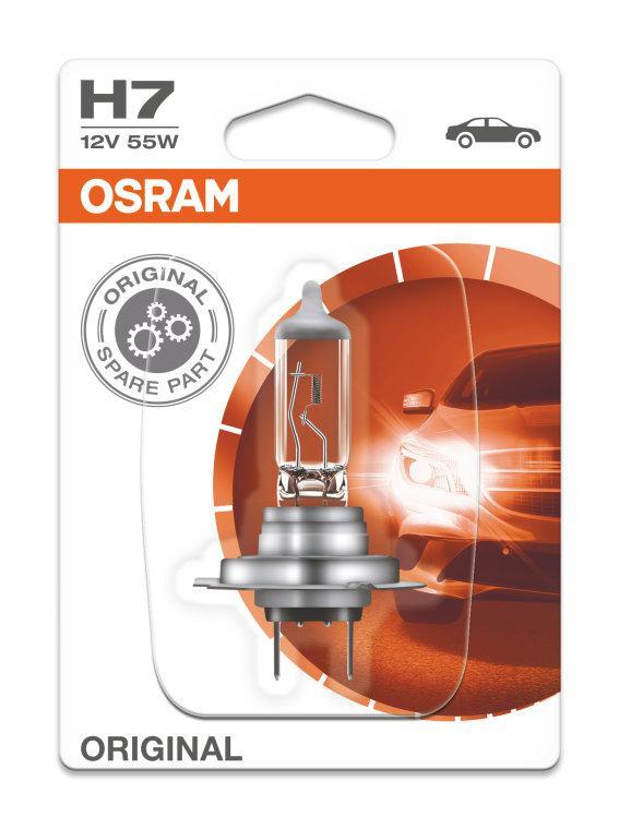 Автолампа H7 (55) PX26d (блистер) 12V OSRAM