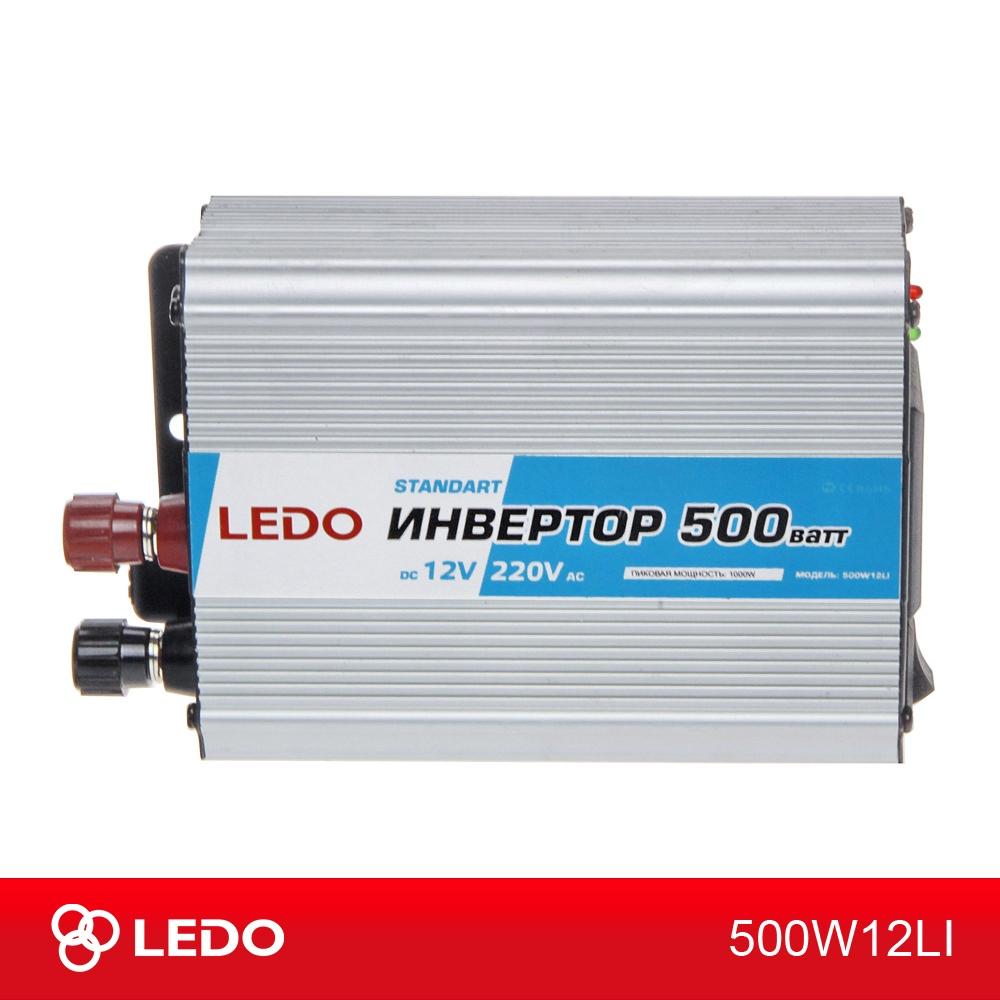 Инвертор 12V-220V 500W LEDO Standart