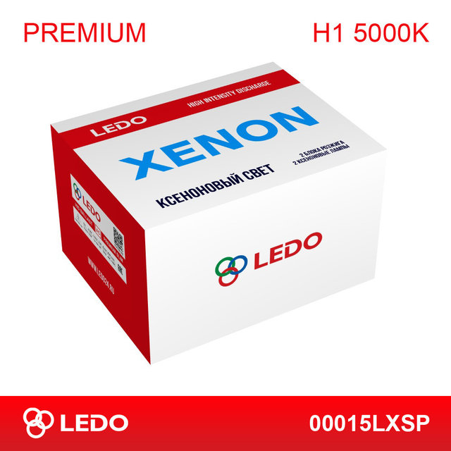 Комплект ксенона H1 5000K LEDO Premium (AC/12V)