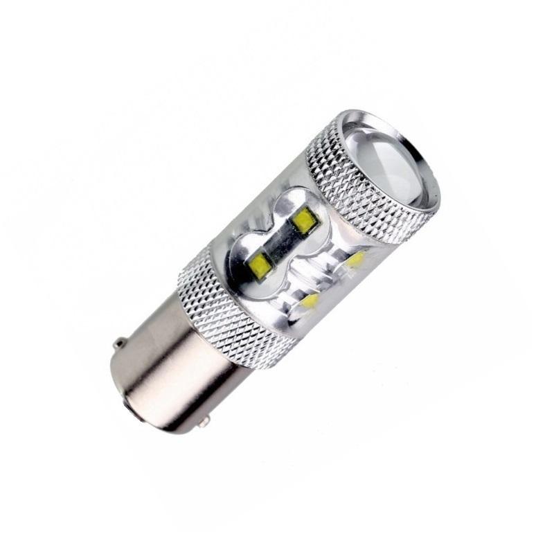 Лампа светодиодная P21/5W BA15D 12V 50W OSRAM chip