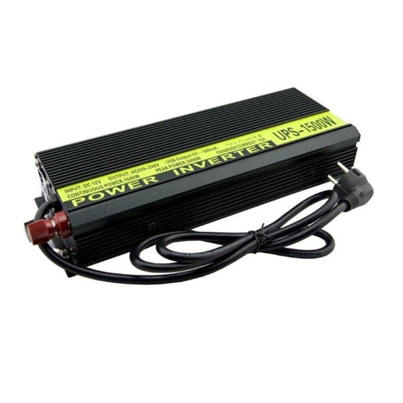 Инвертор с зарядным устройством 12V-220V 1500W LEDO PREMIUM