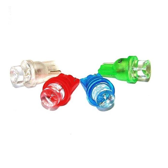 Лампа светодиодная W5W 12V 1LED конус крас