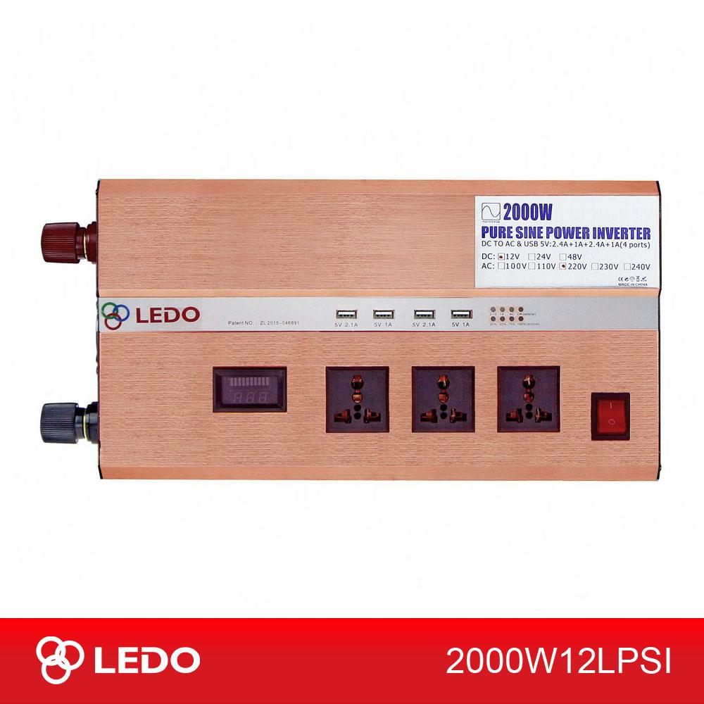 Инвертор 12V-220V 2000W LEDO чистый синус