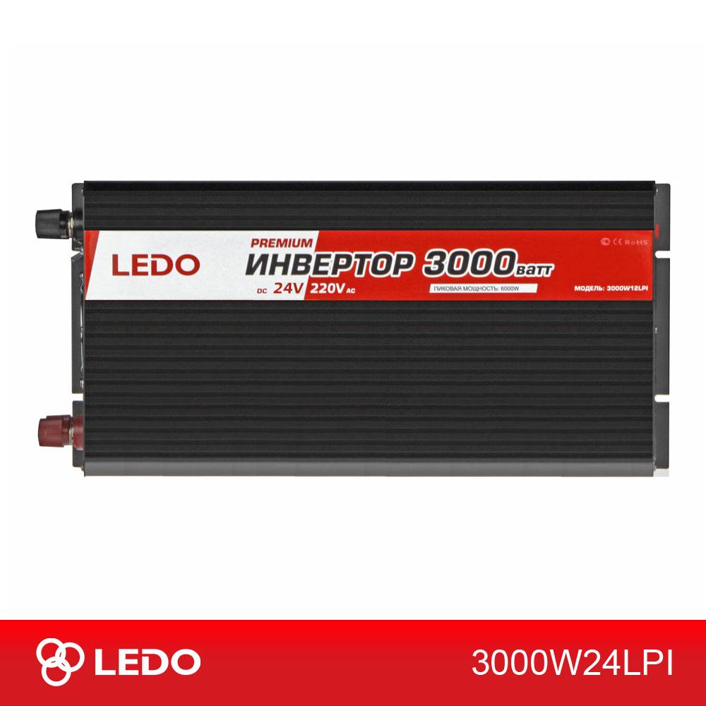 Инвертор 24V-220V 3000W LEDO PREMIUM