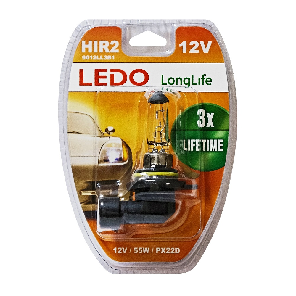 Лампа 9012 (HIR2) LEDO LongLife 12V 55W блистер