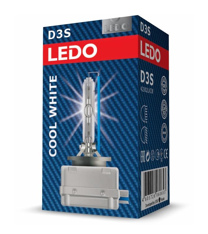 Лампа D3S 6000K LEDO Cool White