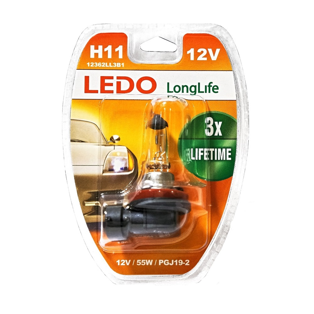 Лампа H11 LEDO LongLife 12V 55W блистер