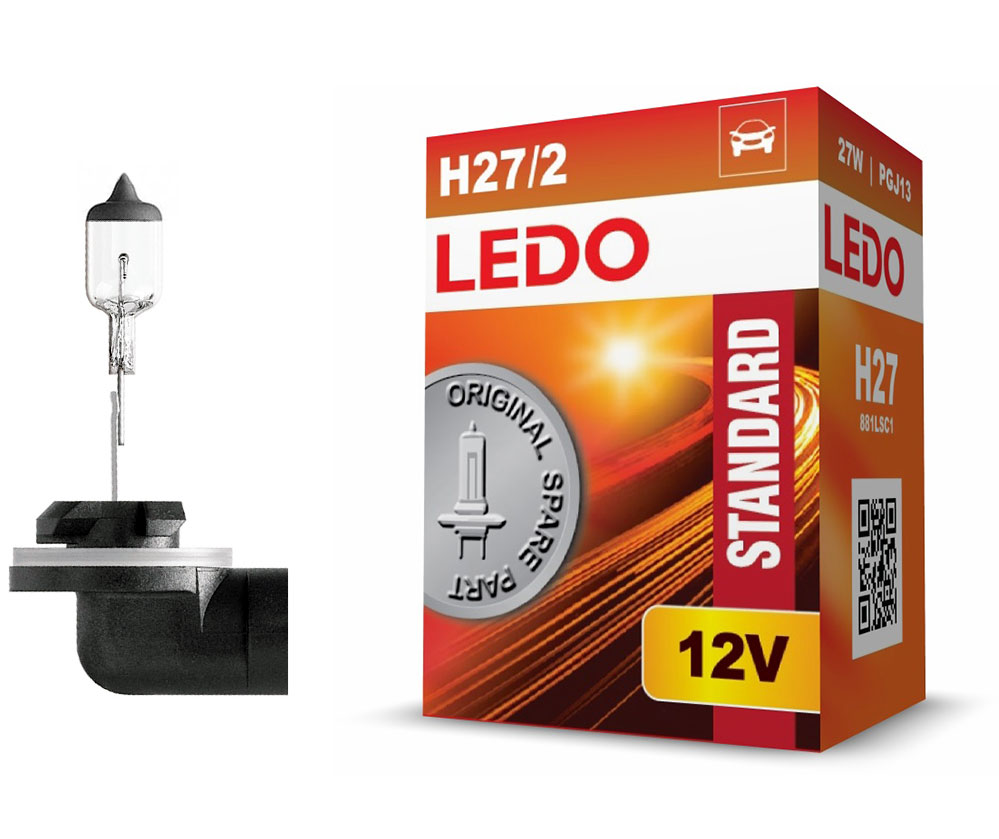 Лампа H27 (881) LEDO Standard 12V 27W