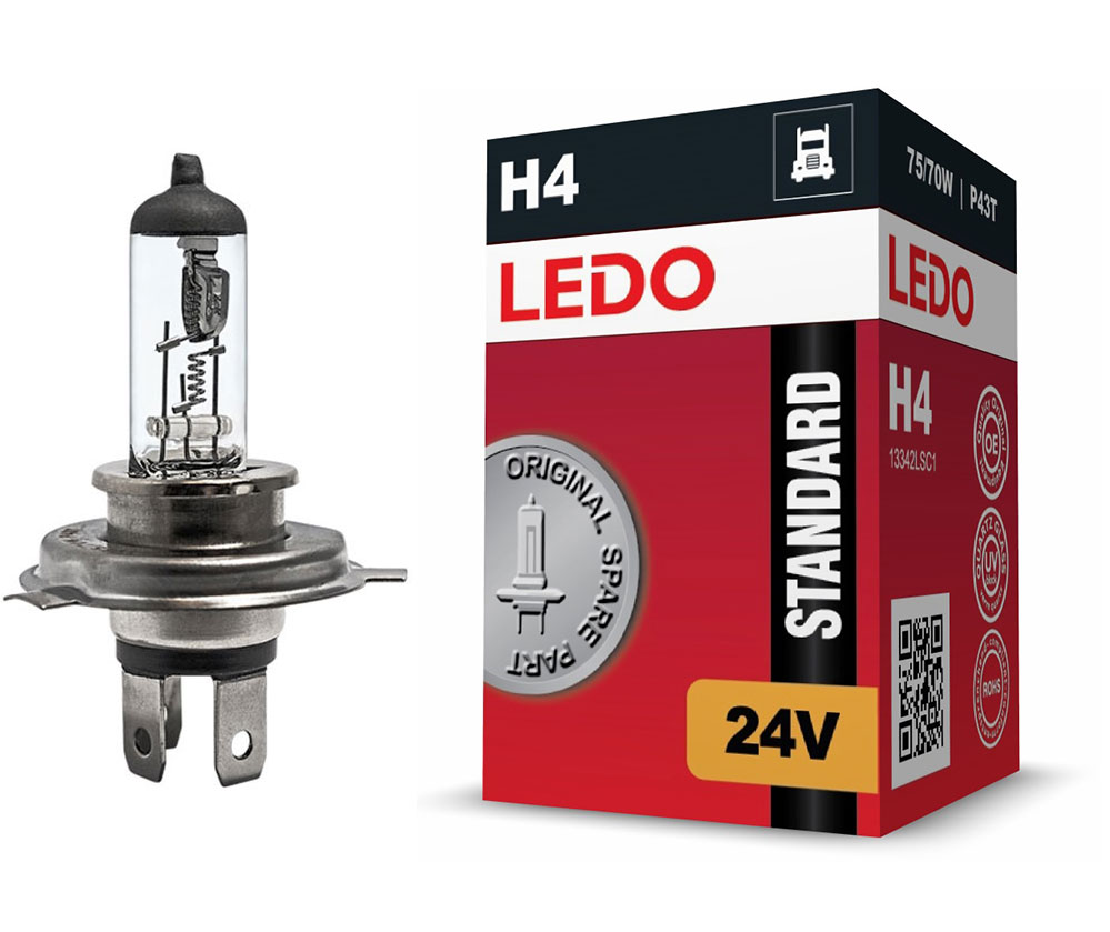 Лампа H4 LEDO Standard 24V 75/70W