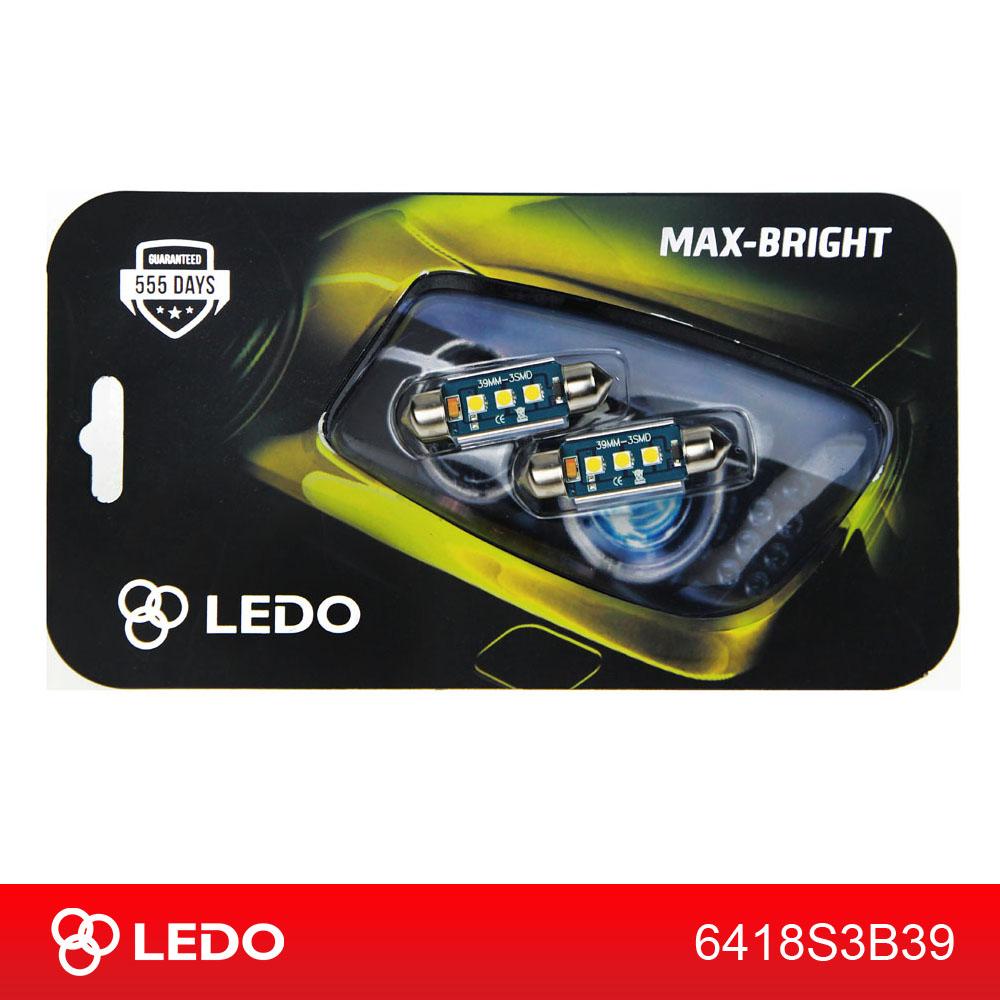 Лампа светодиодная C5W LEDO Max-Bright 39mm 3SMD Osram чип 12V