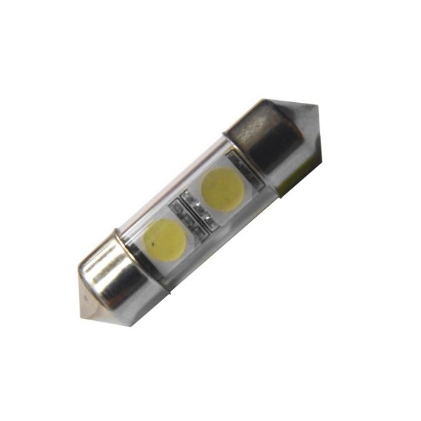 Лампа светодиодная C5W / SV8,5-8 / 12V 2SMD 38мм син