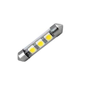 Лампа светодиодная C5W / SV8,5-8 / 12V 3SMD 41мм бел