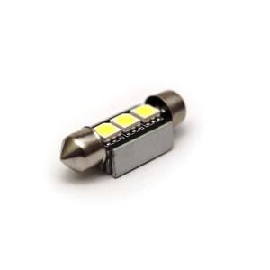 Лампа светодиодная C5W / SV8,5-8 / 12V 3SMD с обманкой