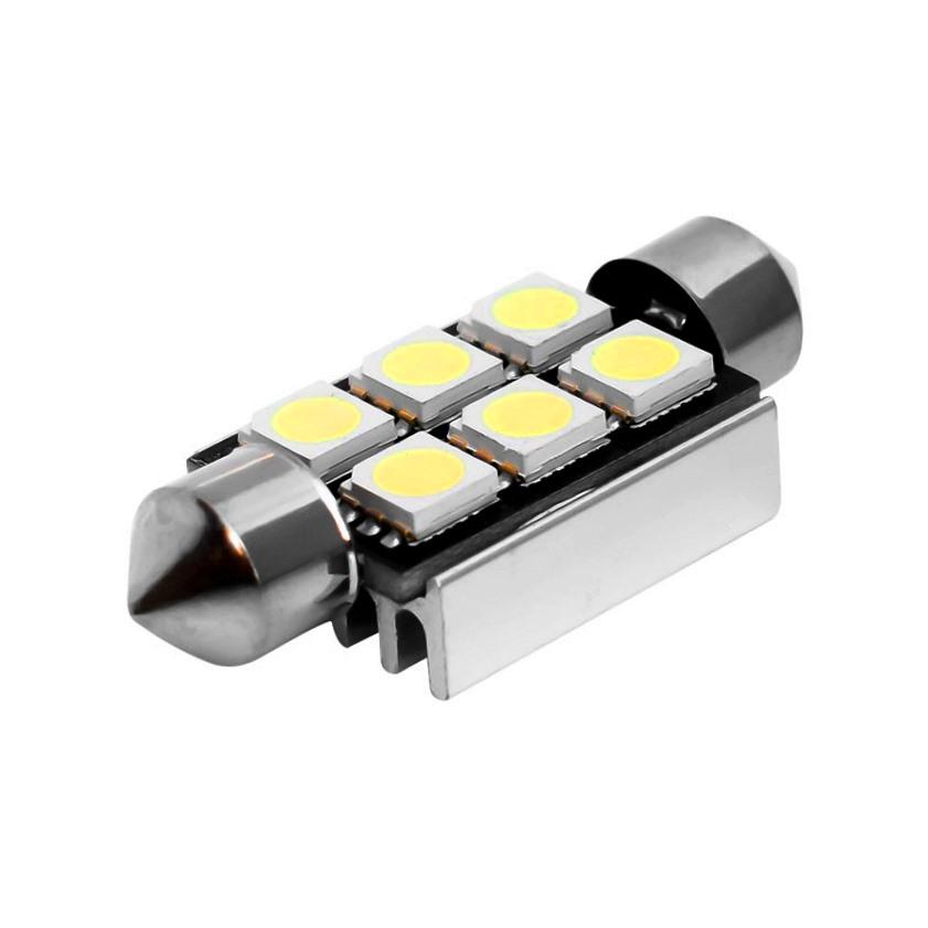 Лампа светодиодная C5W / SV8,5-8 / 12V 6SMD с обманкой