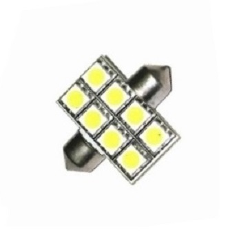 Лампа светодиодная C5W / SV8,5-8 / 12V 8SMD 38мм открытая син