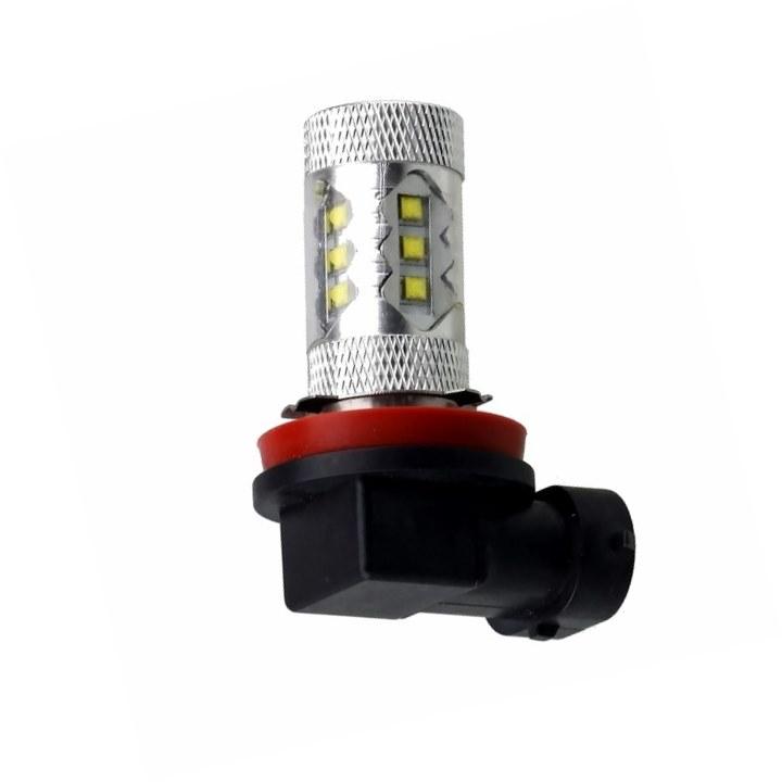 Лампа светодиодная H11 12V 80W Cree с обманкой