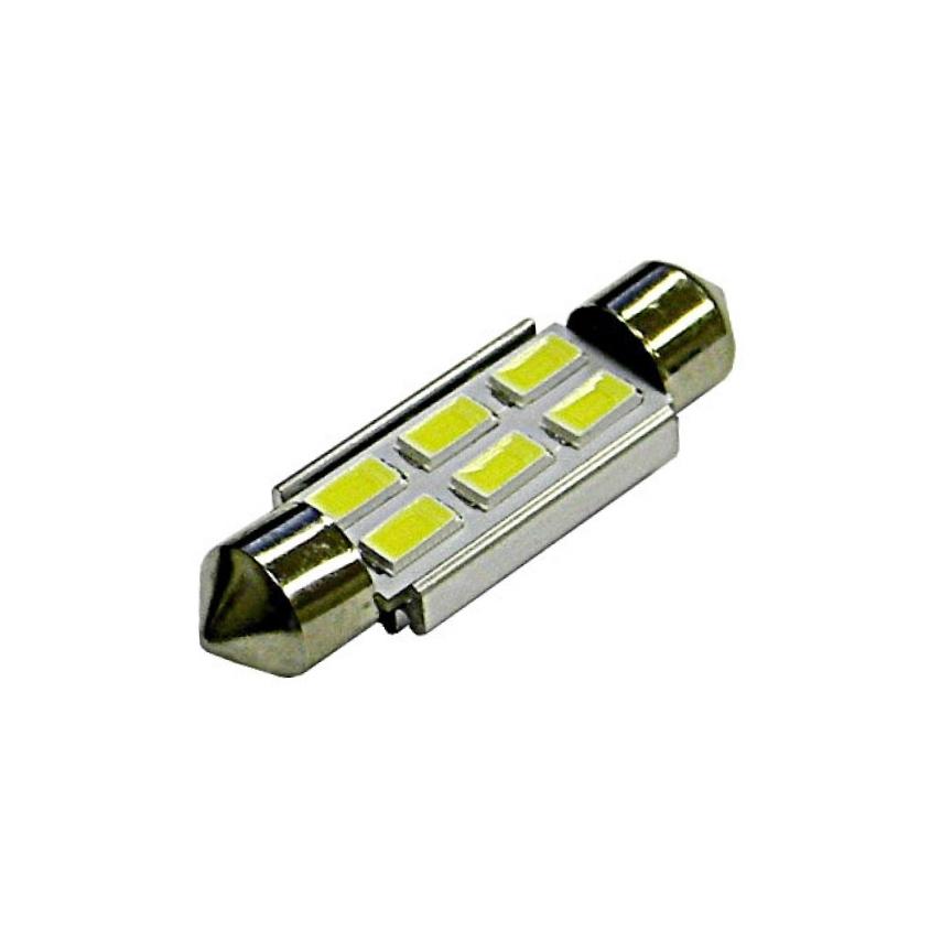 Лампа светодиодная LEDO C5W / SV8,5-8 / 12V 6SMD 39мм +50% с обманкой