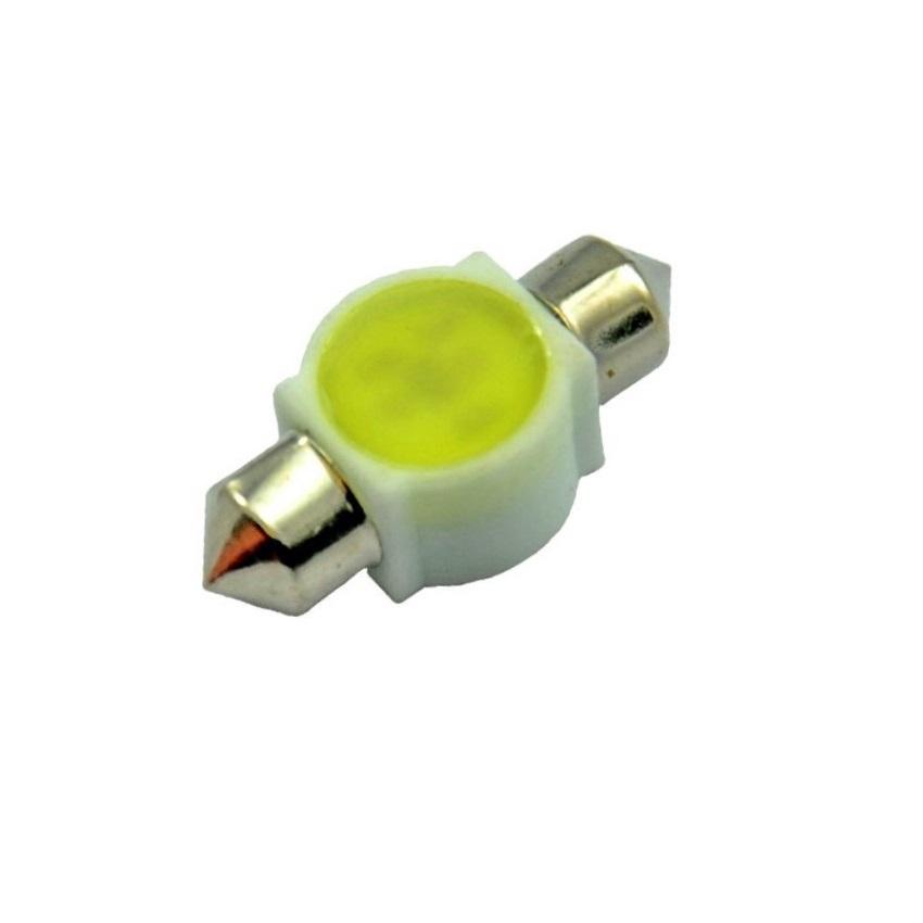 Лампа светодиодная LEDO C5W / SV8,5-8 / 12V COB 36mm 3W керамика